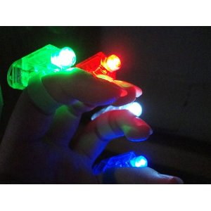 40 Super Bright Finger Flashlights - LED Finger Lamps - Rave Finger Lights