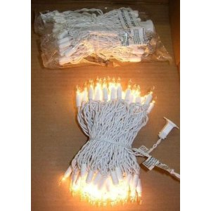 5 Sets - Bright 100 Clear/white Christmas Wedding Lights (Total 120 Feet)