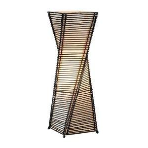 Adesso 4045-01 Stix Table Lantern, Black