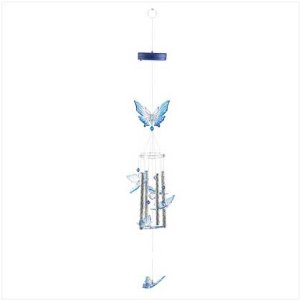 Color Changing Butterfly Wind Chime