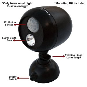 Dorcy 41-1071 LED Wireless Motion Sensor Flood Lite