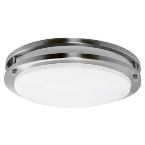 Efficient Lighting Flushmount, Interior Ceiling Light Fixture with brushed nickel (14 in)