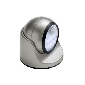 Fulcrum 20031-101 Motion Sensor LED Porch Light, Silver