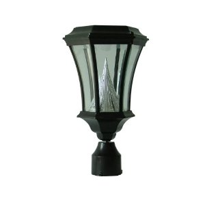 Gamasonic GS-94F LED Solar 19th Century Historic Lamp with 3-Inch Post Fitter, Black