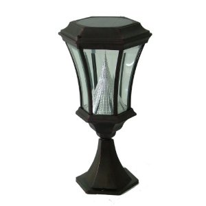 Gamasonic GS-94P Deck or Patio Victorian Solar LED Lamp Post, Black