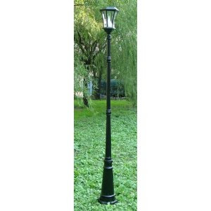 Gamasonic GS-94S 7-Foot Tall Victorian Solar Lamp Post with One Head and LED Light