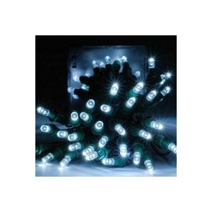 GudCraft Solar Powered 35-Foot Holiday String Lights, 100 LED White