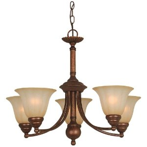 Hardware House 543645 Madrid 25-by-20-Inch Chandelier, Antique Bronze
