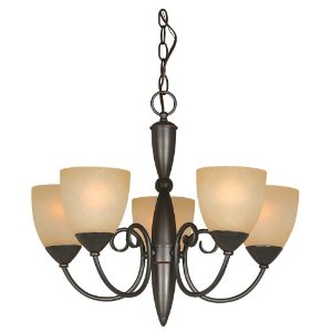 Hardware House 543728 Berkshire 21-Inch by 18-Inch Chandelier, Oil-Rubbed Bronze