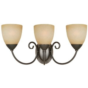 Hardware House 543850 Berkshire 20-1/4-Inch by 8-3/4-Inch Bath/Wall Lighting Fixture