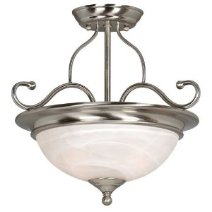 Hardware House 543967 Saturn 15-Inch by 14-Inch Ceiling Lighting Fixture Satin Nickel