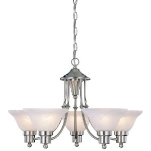 Hardware House 544452 24-Inch by 15-Inch Chandelier Brushed Nickel