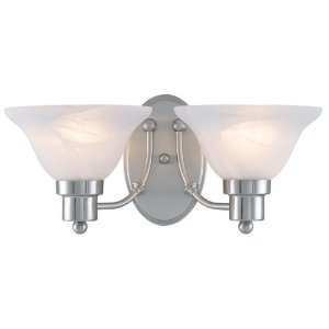 Hardware House 544478 16-Inch by 7-1/2-Inch Brushed Nickel Bath/Wall Lighting Fixture