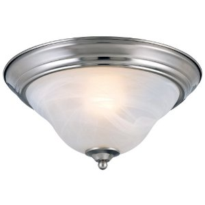 Hardware House 544650 13-1/2-Inch by 7-Inch Ceiling Lighting Fixture Brushed Nickel