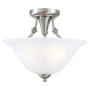 Hardware House 544676 Bristol 13-Inch by 11-Inch Ceiling Lighting Fixture Brushed Nickel
