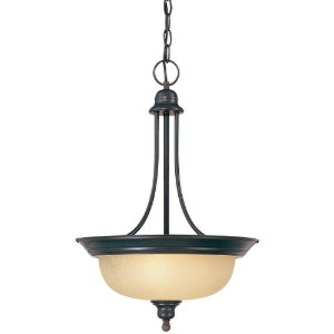 Hardware House 544791 Seville 15-Inch by 22-1/2-Inch Ceiling Lighting Fixture Pendant Classic Bronze