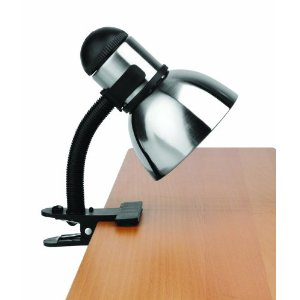 Lite Source LS-153PS/BLK Henrik Metal Clip-On Lite, Black with Polished Steel