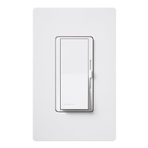 Lutron DVWCL-153PH-WH Diva Dimmable CFL/LED Dimmer with Wallplate, White