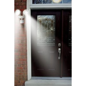 MAXSA Innovations 40218 Motion-Activated Dual Head LED Security Spotlight