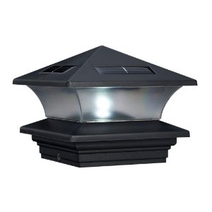 McFarland Cascade Terratec Solar Post Cap, Black, Fits 4x4-Inch Post