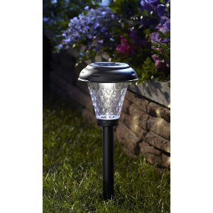 Moonrays 91380 Payton Style Solar Plastic Path LED Light, Black, 10-Pack