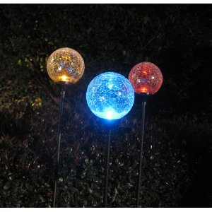 Moonrays 99924 Color-Changing Glass Ball Fixture