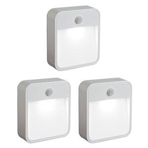 Mr. Beams MB 723 Battery Powered Motion Sensing LED Stick Anywhere Night Light, 3-Pack