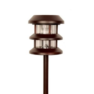Pine Top 508-0002RB Solar Garden Path Night Light, Stainless Steel, Rustic Bronze
