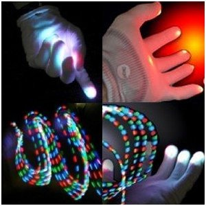 Rave Gloves - Raver Hands LED Light Show Pair of Gloves