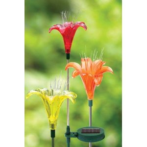 SOLAR LILY Flower Stake, LED Light
