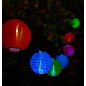 Soji Mini Outdoor Solar String Lights - Tropical Fruit with White LEDS