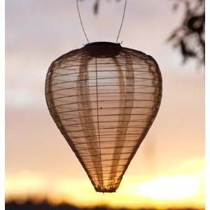 Soji Silk Effects Solar Lantern Tear Drop Bronze