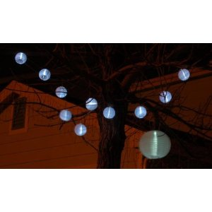 Solar Powered Mini Lantern Fairy Chain Lights. 10 Lanterns in a Chain of 5' Long.