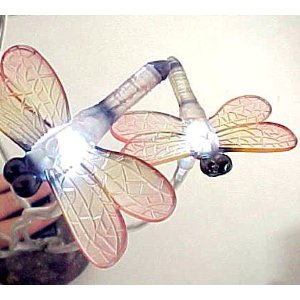 Ultra Bright Garden Dragonflies 5 Blinking LEDs Solar Lights