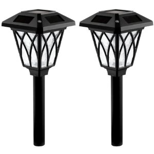 Westinghouse NE1102-08W Canterbury Super Bright Solar Light, Black, 2-Pack